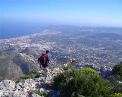 Hiking on one of our excursions on the Ifach in Calpe